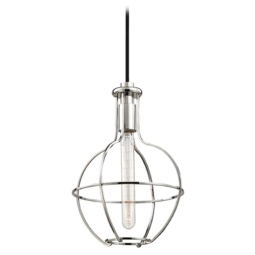 Hudson Valley Lighting Colebrook 1 Light Mini-Pendant Light - Polished Nickel 1051-PN