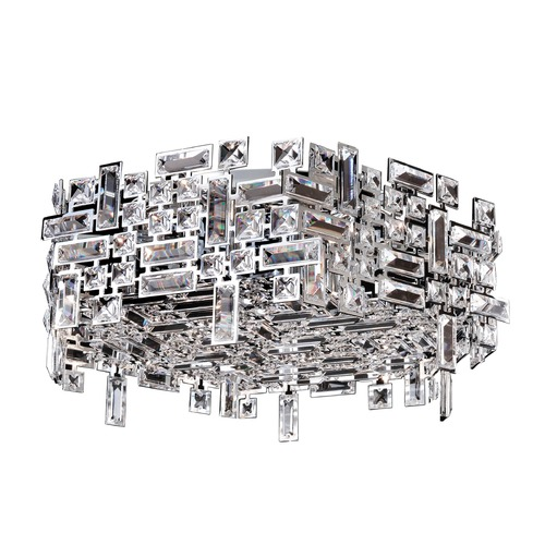 Allegri Lighting Vermeer 6 Light Hex Flush Mount w/ Chrome 11194-010-FR001
