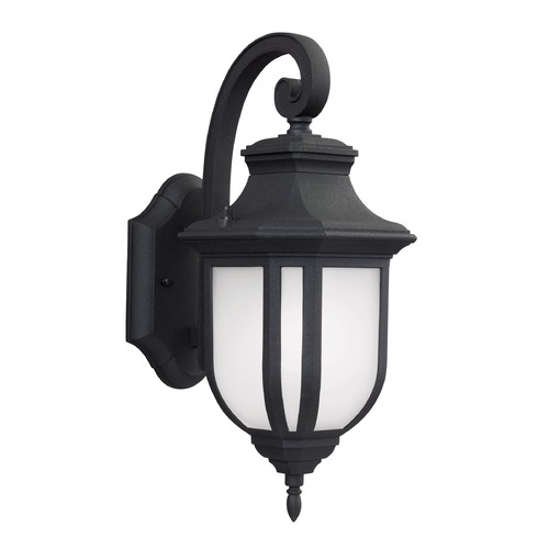 Sea Gull Lighting Sea Gull Lighting Childress Black LED Outdoor Wall Light 8636391S-12