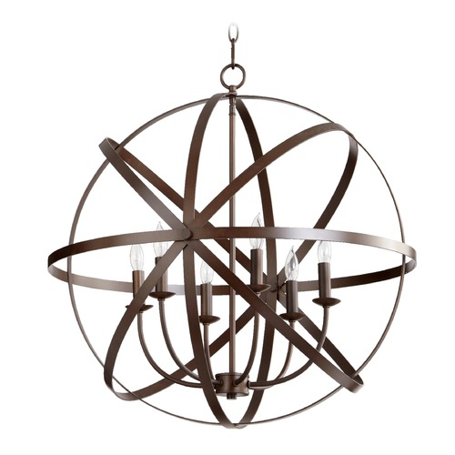 Quorum Lighting Quorum Lighting Celeste Oiled Bronze Pendant Light 6009-6-86