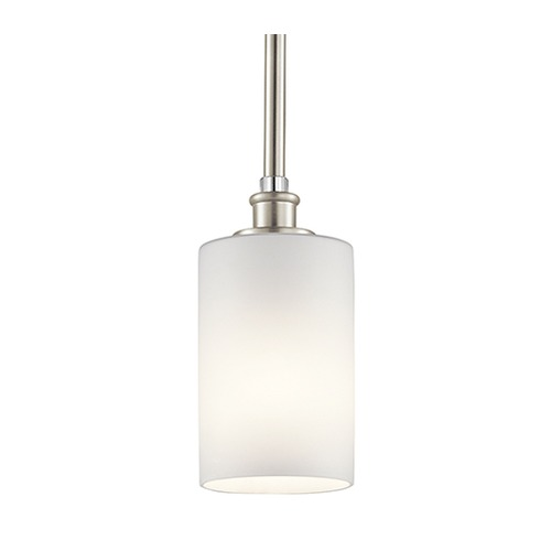 Kichler Lighting Kichler Lighting Joelson Brushed Nickel LED Mini-Pendant Light with Cylindrical Shade 43927NIL16