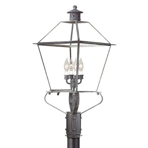 Troy Lighting Post Light with Clear Glass in Natural Rust Finish PCD9141NR