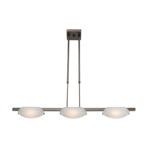 Access Lighting Modern Semi-Flushmount Light with White Glass in Oil Rubbed Bronze Finish 63957-ORB/FST