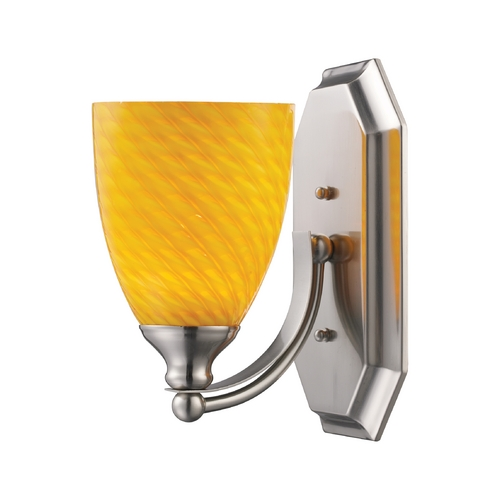 Elk Lighting Sconce with Art Glass in Satin Nickel Finish 570-1N-CN