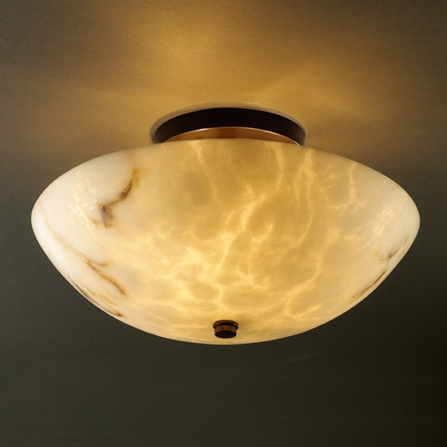 Justice Design Group Justice Design Group Lumenaria Collection Semi-Flushmount Light FAL-9690-35-DBRZ