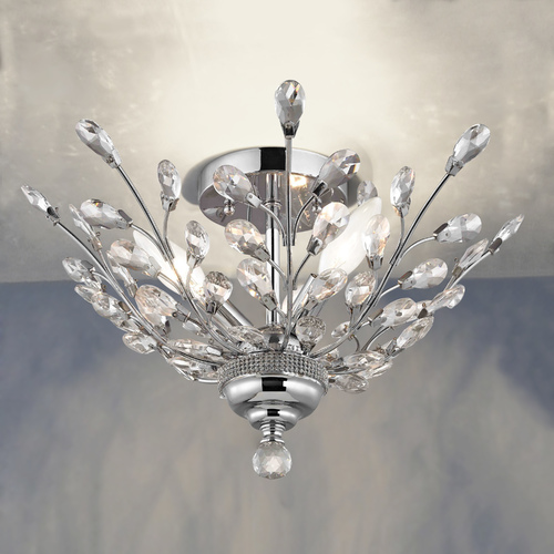 Ashford Classics Lighting Crystal Semi-Flushmount Light in Chrome Finish 2253-26