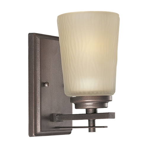 Progress Lighting Progress Sconce Wall Light with Beige / Cream Glass in Heirloom Finish P3092-88
