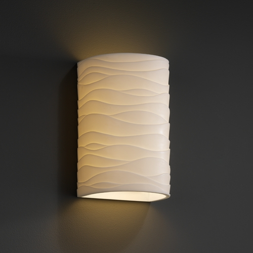 Justice Design Group Justice Design Group Porcelina Collection Outdoor Wall Light PNA-1265W-WAVE