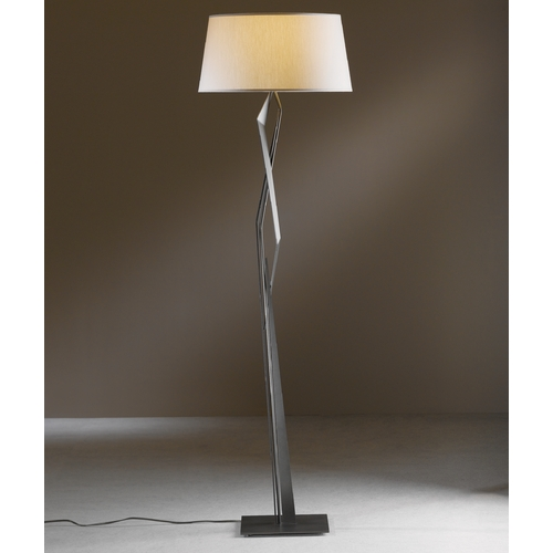 Hubbardton Forge Lighting Hubbardton Forge Lighting Facet Dark Smoke Floor Lamp with Empire Shade 232850-SKT-07-SE2011