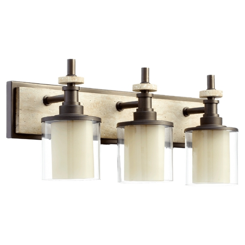 Quorum Lighting Quorum Lighting Concord Oiled Bronze Bathroom Light 5064-3-86