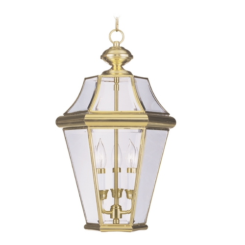 Livex Lighting Livex Lighting Georgetown Polished Brass Outdoor Hanging Light 2365-02