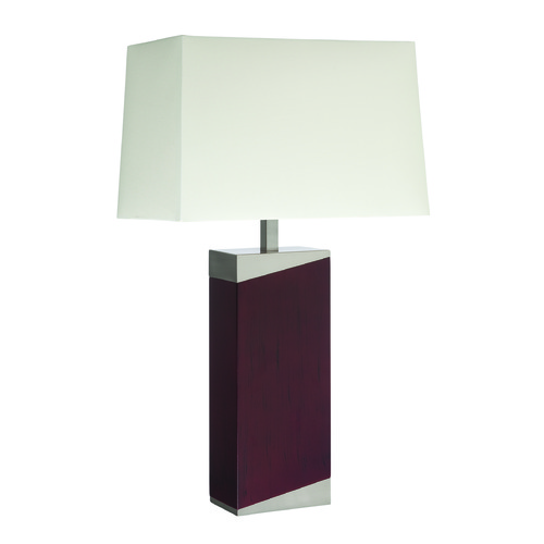 Lite Source Lighting Lite Source Felice Polished Steel Table Lamp with Rectangle Shade LS-22321