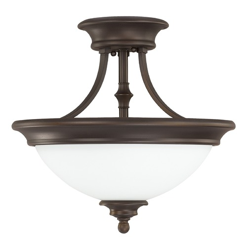 Capital Lighting Capital Lighting Belmont Burnished Bronze Semi-Flushmount Light 3418BB-SW