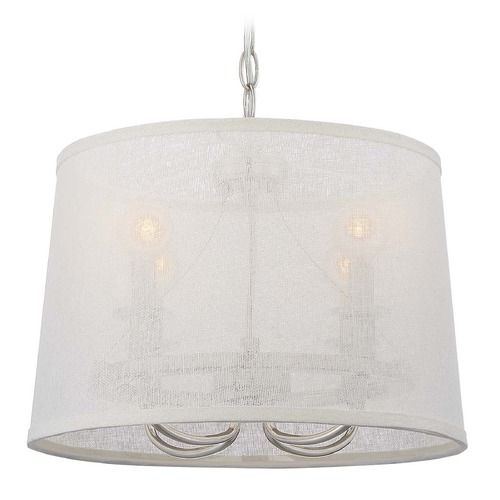 Crystorama Lighting Crystorama Lighting Culver Polished Nickel Pendant Light with Empire Shade 2294-PN