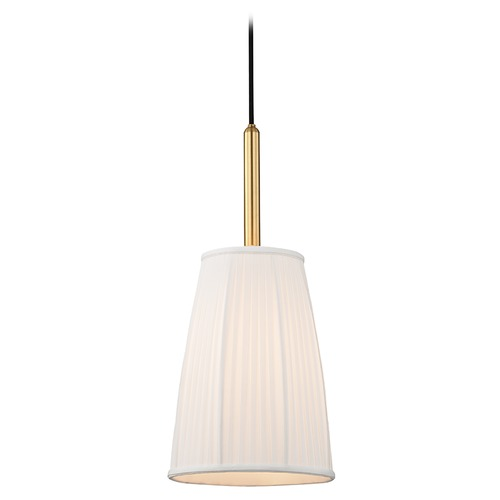 Hudson Valley Lighting Hudson Valley Lighting Malden Aged Brass Mini-Pendant Light with Empire Shade 6060-AGB