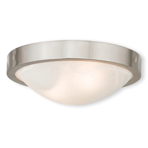 Livex Lighting Livex Lighting New Brighton Brushed Nickel Flushmount Light 73951-91