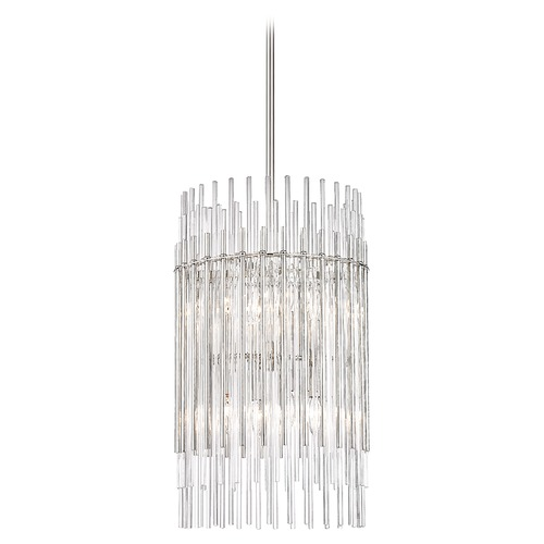Hudson Valley Lighting Hudson Valley Lighting Wallis Polished Nickel Pendant Light with Cylindrical Shade 6315-PN
