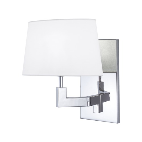 Norwell Lighting Norwell Lighting Grace Polished Nickel Sconce 8240-PN-WS