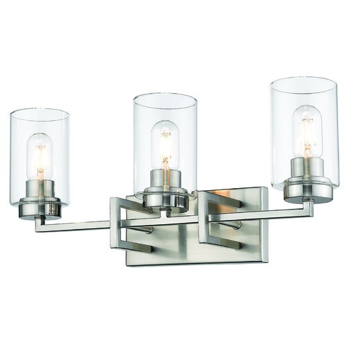 Golden Lighting Golden Lighting Tribeca Pewter Bathroom Light 6070-BA3PW-PW