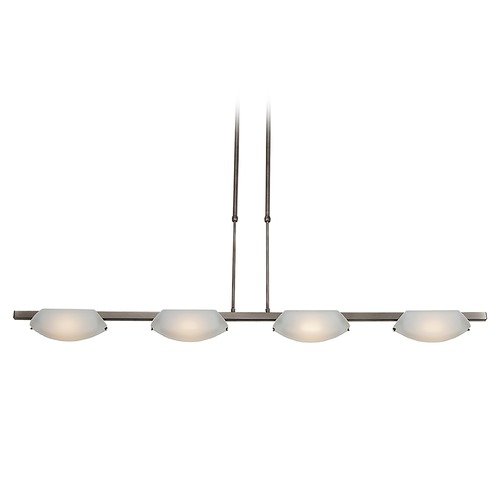 Access Lighting Access Lighting Nido Matte Chrome Island Light with Oval Shade 63958-MC/FST