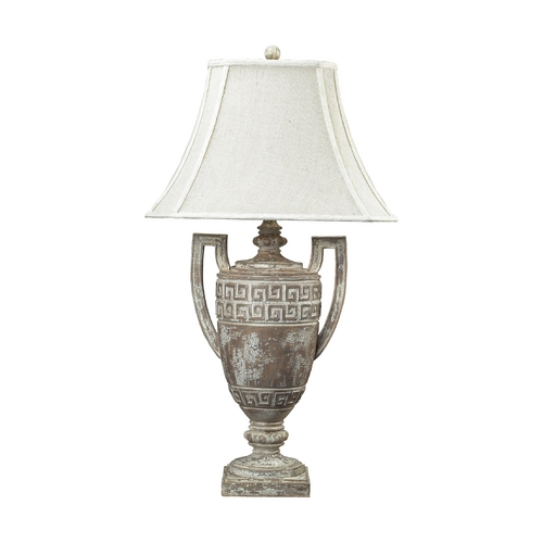 Dimond Lighting Table Lamp with White Shade in Allesandria Finish 93-9197