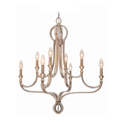 Crystorama Lighting Crystal Chandelier in Distressed Twilight Finish 6768-DT