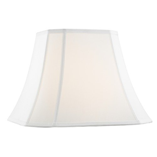 Design Classics Lighting Pure White Cut Corner Fabric Lamp Shade with Piping and Spider Assembly SH9726