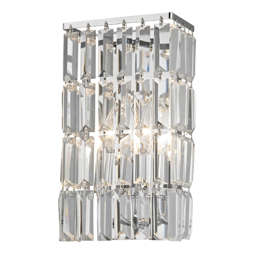 Ashford Classics Lighting Crystal Sconce Wall Light in Chrome Finish 2254-26