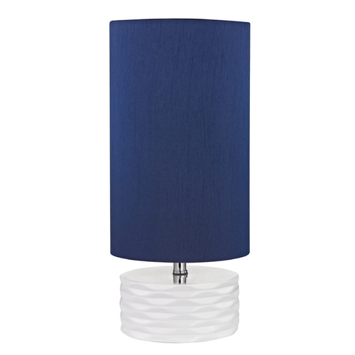 Dimond Lighting Accent Lamp with Blue Shades in White Finish D2522