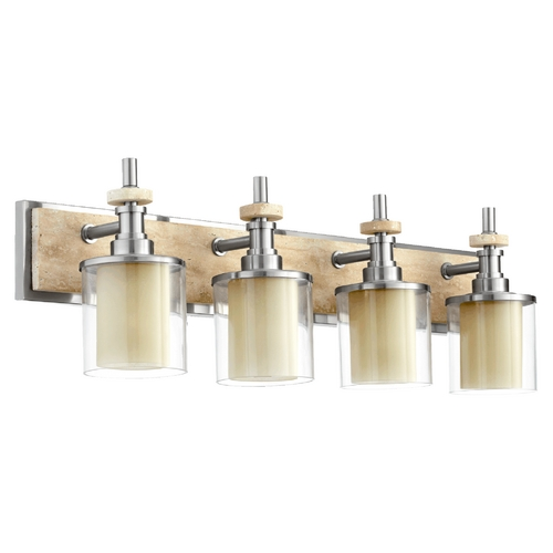 Quorum Lighting Quorum Lighting Concord Satin Nickel Bathroom Light 5064-4-65