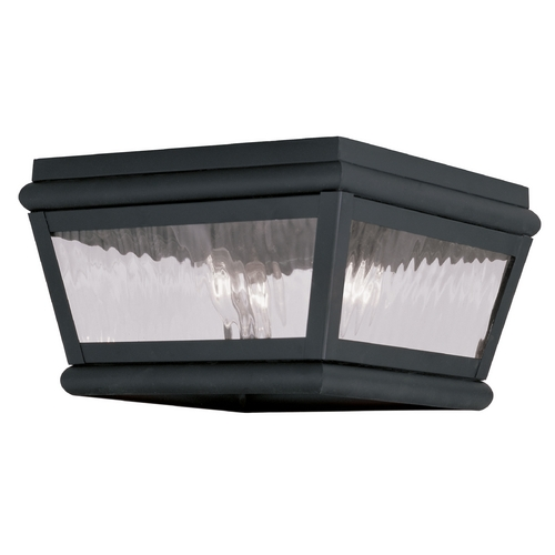 Livex Lighting Livex Lighting Exeter Charcoal Close To Ceiling Light 2611-04