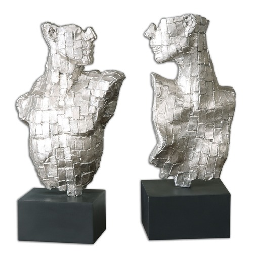 Uttermost Lighting Uttermost Eros Silver Sculptures Set of 2 19887