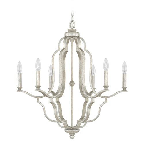 Capital Lighting Capital Lighting Blair Antique Silver Chandelier 4946AS-000