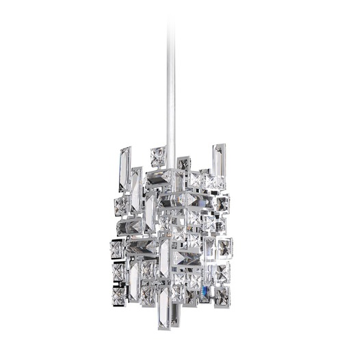 Allegri Lighting Vermeer 1 Light Mini Pendant w/ Chrome 11195-010-FR001