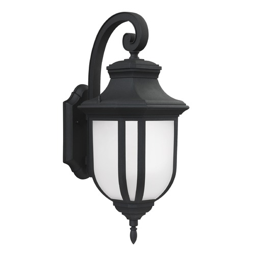 Sea Gull Lighting Sea Gull Lighting Childress Black LED Outdoor Wall Light 8736391S-12