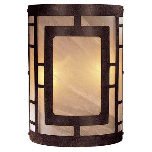 Minka Lavery Modern Sconce Wall Light with Beige / Cream Glass in Nutmeg Finish 346-14