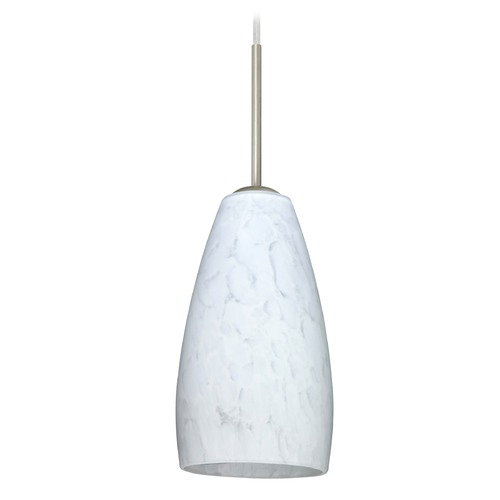 Besa Lighting Besa Lighting Chrissy Satin Nickel Mini-Pendant Light with Conical Shade 1BT-150919-SN