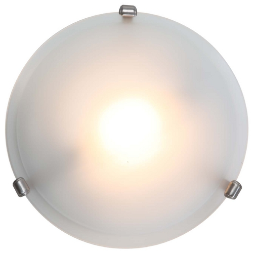 Access Lighting Modern Flushmount Light with White Glass in Satin Nickel Finish 50041-SAT/FST