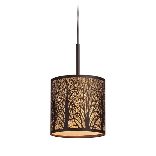 Elk Lighting Mini-Pendant Light with Amber Glass 31073/1