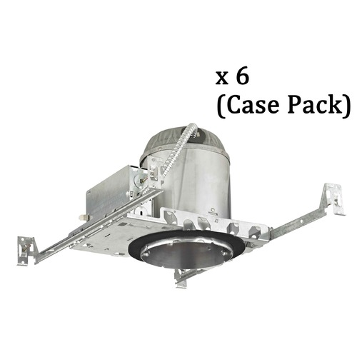 Recesso Lighting by Dolan Designs 5-Inch Remodel E26 Recessed Can Light IC & Airtight Flat Ceiling Case Pack of 6 IC5-CASE