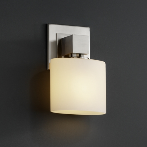 Justice Design Group Justice Design Group Fusion Collection Sconce FSN-8707-30-OPAL-NCKL