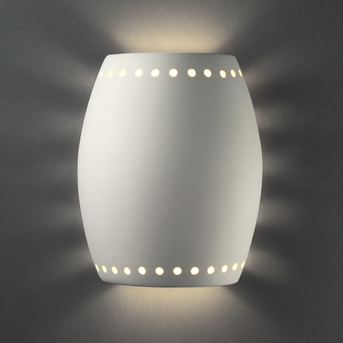 Justice Design Group Outdoor Wall Light in Bisque Finish CER-9045W-BIS