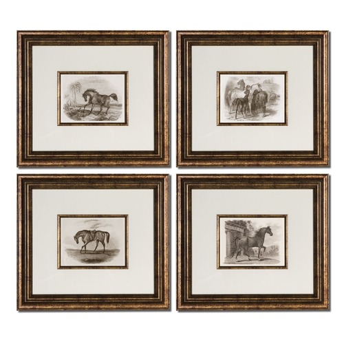 Uttermost Lighting Uttermost Horses Framed Art Set/4 33590