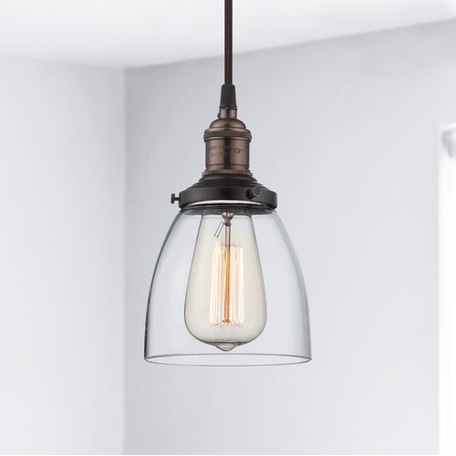Nuvo Lighting Mini-Pendant Light with Clear Glass 60/5504