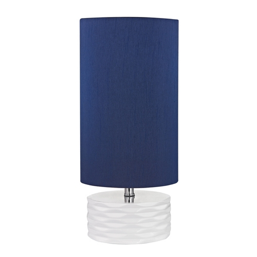 Dimond Lighting LED Accent Lamp with Blue Shades in White Finish D2522-LED