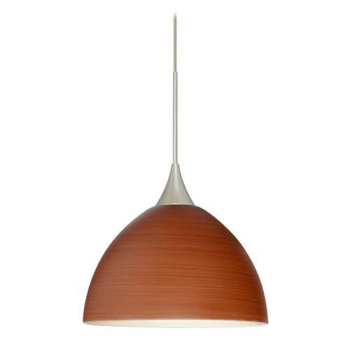 Besa Lighting Besa Lighting Brella Satin Nickel LED Mini-Pendant Light 1XT-4679CH-LED-SN