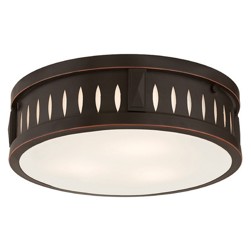 Livex Lighting Livex Lighting Vista Olde Bronze Flushmount Light 65508-67