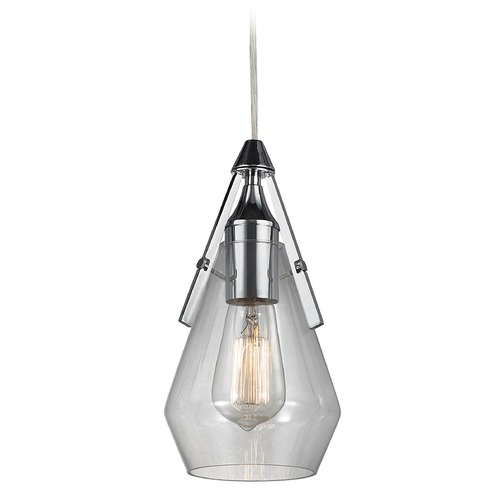 Elk Lighting Elk Lighting Duncan Polished Chrome Mini-Pendant Light with Bowl / Dome Shade 46171/1