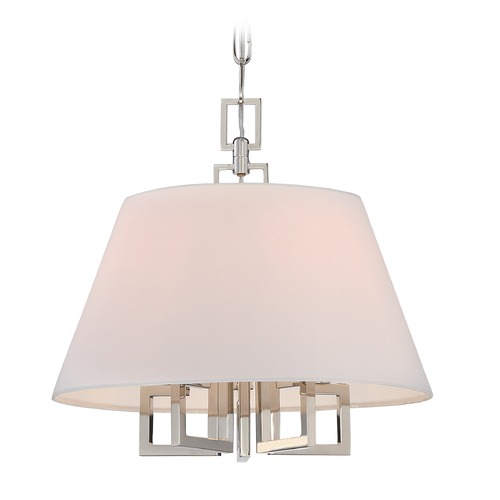 Crystorama Lighting Crystorama Lighting Westwood Polished Nickel Pendant Light with Empire Shade 2255-PN