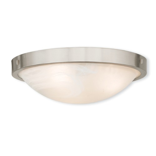 Livex Lighting Livex Lighting New Brighton Brushed Nickel Flushmount Light 73952-91